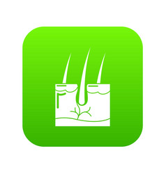 hair skin icon green vector image