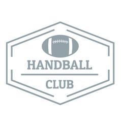 Handball logo simple gray style vector