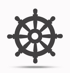 Helm steering wheeli llustration on white vector