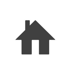 home icon isolated on white background house vector image