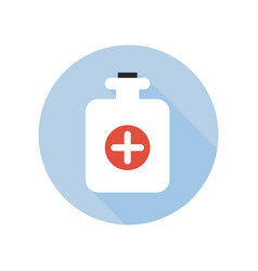 hot water bottle icon healthcare and medical vector image