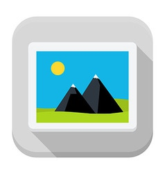 Image flat app icon with long shadow vector image