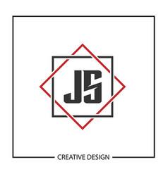 Initial js letter logo template design vector