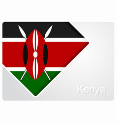 kenyan flag design background vector image