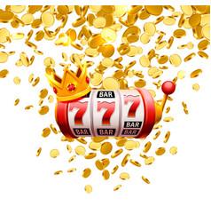 king slots 777 banner casino on white vector image