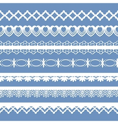 laces on the blue vector image