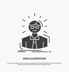 manager employee doctor person business man icon vector image