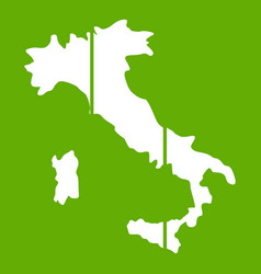 map of italy icon green vector image