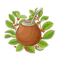 Mate tea vector