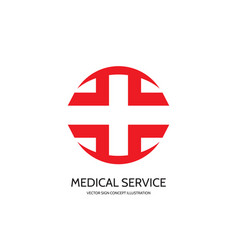 medical cross logo template concept vector image