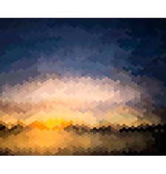 Mosaic Artistic Background of a Sunset vector