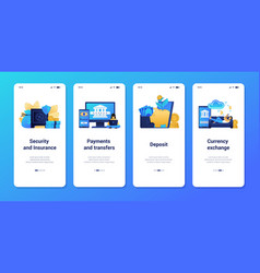 Online banking application smartphone interface vector