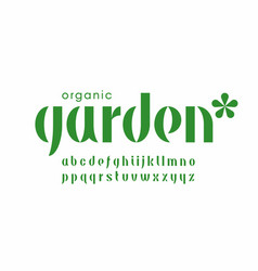 Organic nature style font vector
