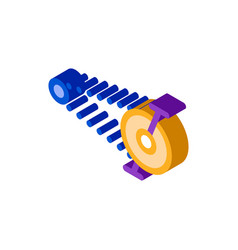 Pedal bike chain isometric icon vector