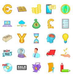 Phishing icons set cartoon style vector