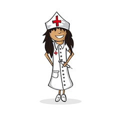 Profession nurse woman cartoon figure vector