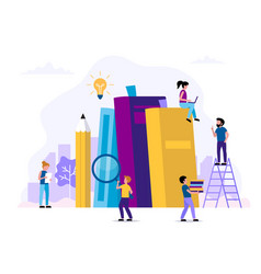 reading and learning concept with vector image
