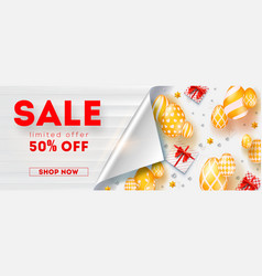 sale get up to 50 percent discount limited offer vector image