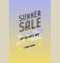 Sale poster with geometric shapes super sale vector