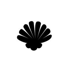 scallop seashell shellfish pearl shell flat icon vector image