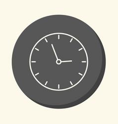 school wall clock circular line icon with vector image