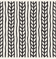 seamless pattern hand drawn brush strokes ink vector image