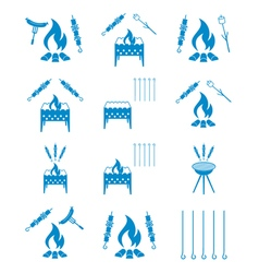 Set of kebab icons vector