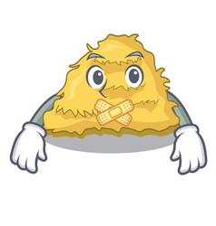 Silent hay bale mascot cartoon vector
