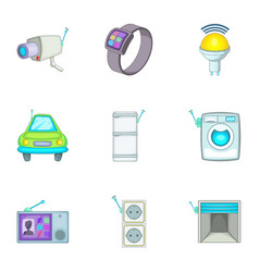 Smart home best automatic electronic devices set vector