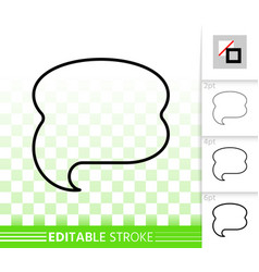 speech bubble banner simple black line icon vector image