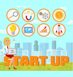 start up concept flat vector image