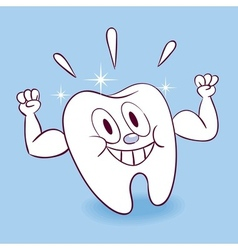 Strong healthy tooth vector