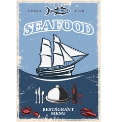 Stylized Seafood Poster vector