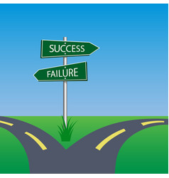 Success failure signpost vector