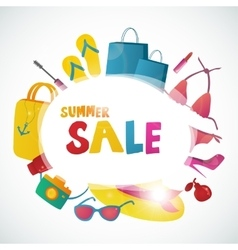 Summer Sale collection background design vector image