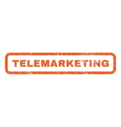 Telemarketing Rubber Stamp vector