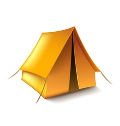 Tent isolated on white vector image