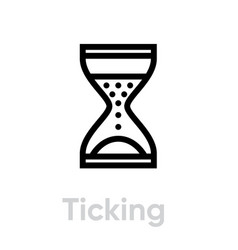 ticking off icon editable line vector image