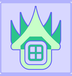 Traditional house stock icon vector