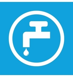 Water tap sign icon vector