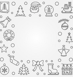 xmas outline background with empty space vector image