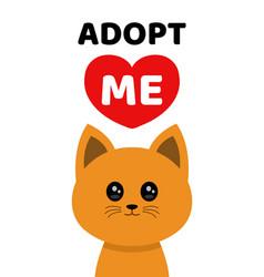 adopt me dont buy cat pet adoption vector image vector image