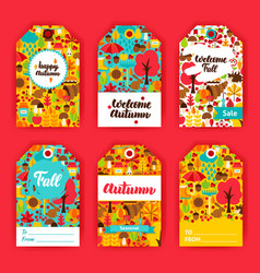 autumn gift labels vector image vector image