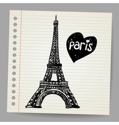 Eiffel Tower Doodle vector image