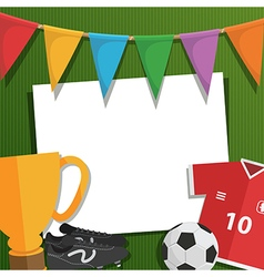 Football greeting card vector
