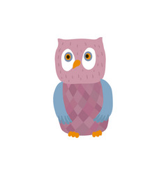 funny owl personage vector image vector image