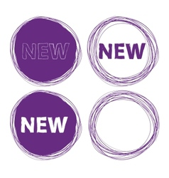 Hand drawn sticker vector image