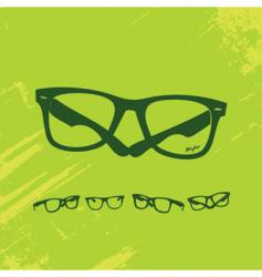 hip glasses series vector image vector image