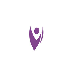 isolated abstract purple color human body vector image vector image