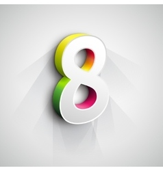 3d Number Eight vector image vector image